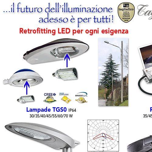 Tagliafico illuminazione stradale kit aggiornamento for Luci tubolari a led