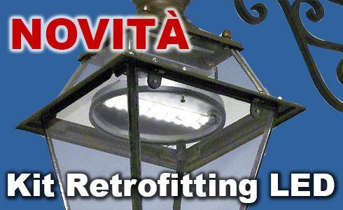 Kit di aggiornamento LED per lanterne e luci illuminazione pubblica stradale....