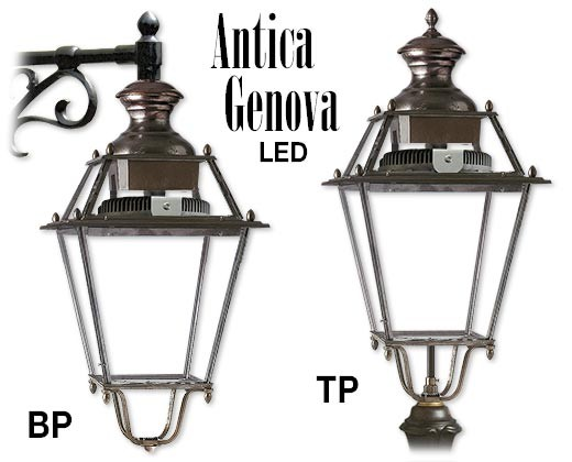 ANTICA GENOVA LED in alluminio