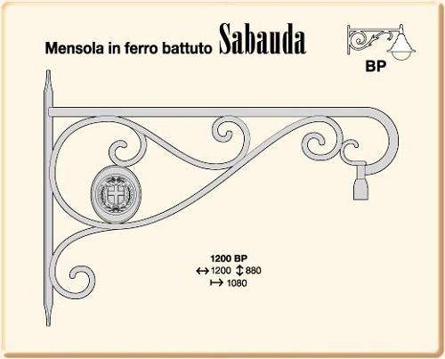 Mensole in ferro battuto sabauda 1200 bp for Mensole in ferro battuto