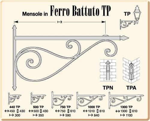 Mensole Angolari In Ferro Battuto.Mensole In Ferro Battuto Serie Battuto Tp