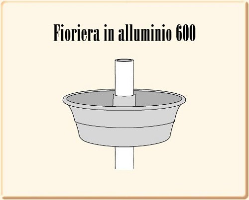 Fioriere fioriera 600 per palo 90 for Fioriere arredo urbano